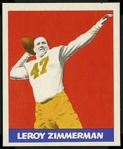 Leroy Zimmerman 1948 Leaf football card