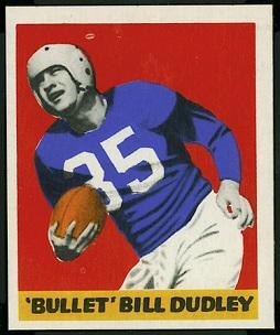 Bill Dudley 1948 Leaf football card
