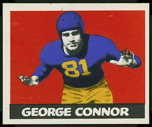 George Connor 1948 Leaf football card