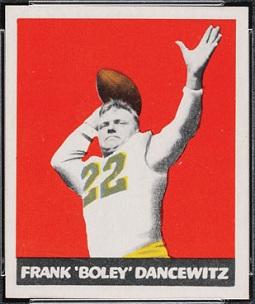 Boley Dancewicz 1948 Leaf football card