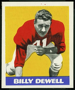 Billy Dewell 1948 Leaf football card