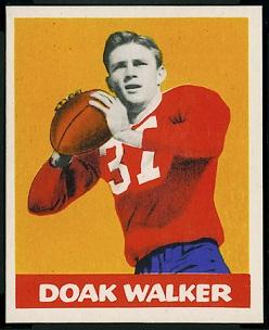Doak Walker 1948 Leaf football card