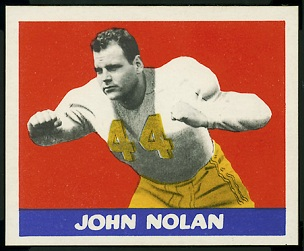 John Nolan 1948 Leaf football card
