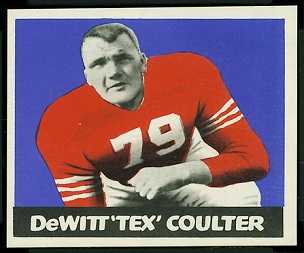 Tex Coulter 1948 Leaf football card