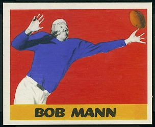 Bob Mann 1948 Leaf football card