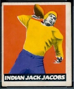 Jack Jacobs 1948 Leaf football card