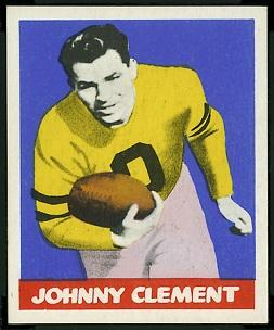 John Clement 1948 Leaf football card