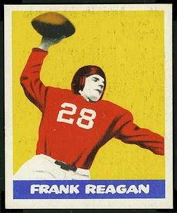 Frank Reagan 1948 Leaf football card