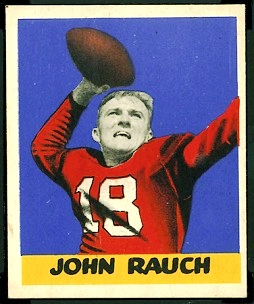 John Rauch 1948 Leaf football card