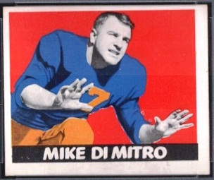 Mike Dimitro 1948 Leaf football card