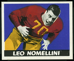 Leo Nomellini 1948 Leaf football card