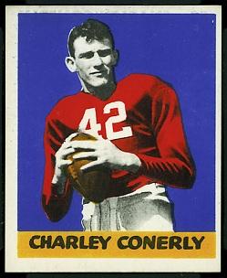 Charley Conerly 1948 Leaf football card