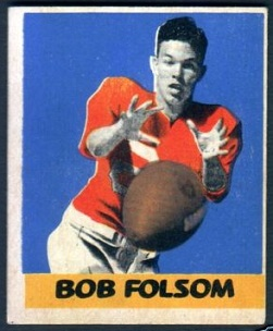 Bob Folsom 1948 Leaf football card