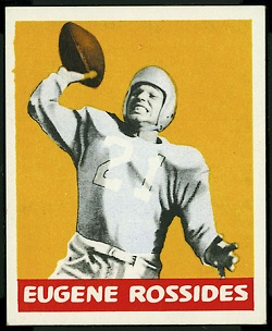 Eugene Rossides 1948 Leaf football card
