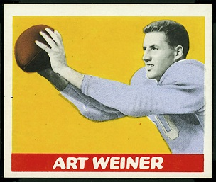 Art Weiner 1948 Leaf football card