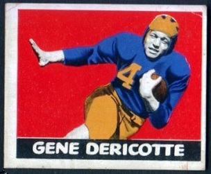 Gene Derricotte 1948 Leaf football card