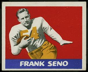 Frank Seno 1948 Leaf football card