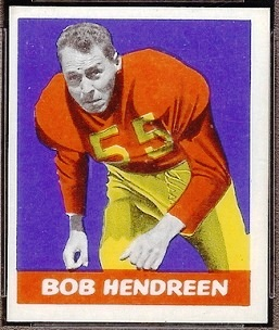 Bob Hendren 1948 Leaf football card
