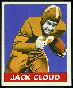 Jack Cloud 1948 Leaf football card