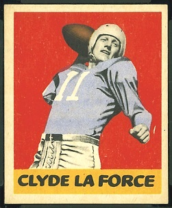 Clyde LeForce 1948 Leaf football card
