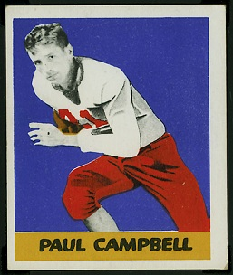 Paul Campbell 1948 Leaf football card