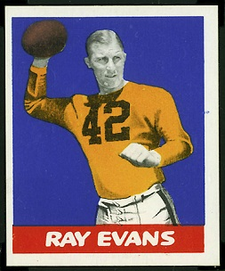 Ray Evans 1948 Leaf football card