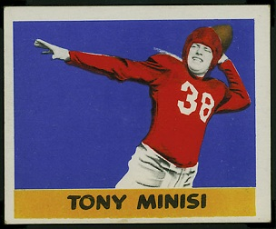 Skip Minisi 1948 Leaf football card