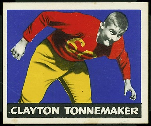 Clayton Tonnemaker 1948 Leaf football card