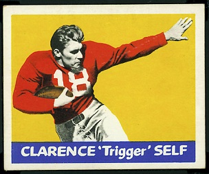 Clarence Self 1948 Leaf football card