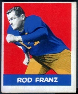 Rodney Franz 1948 Leaf football card