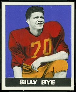 Billy Bye 1948 Leaf football card