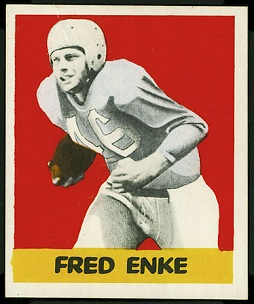 Fred Enke 1948 Leaf football card