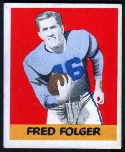 Fred Folger 1948 Leaf football card