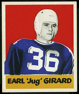 Jug Girard 1948 Leaf football card