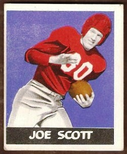 Joe Scott 1948 Leaf football card