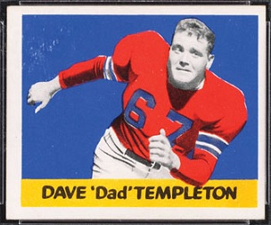 Dave Templeton 1948 Leaf football card