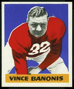 Vince Banonis 1948 Leaf football card