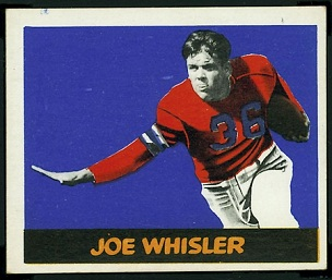 Joe Whisler 1948 Leaf football card