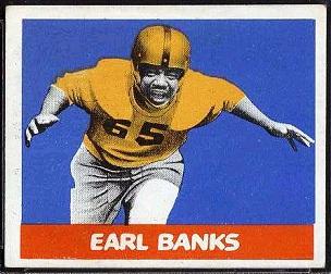 Earl Banks 1948 Leaf football card