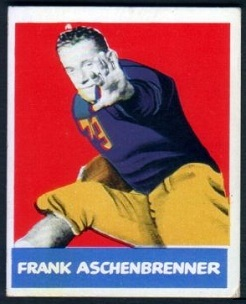 Frank Aschenbrenner 1948 Leaf football card