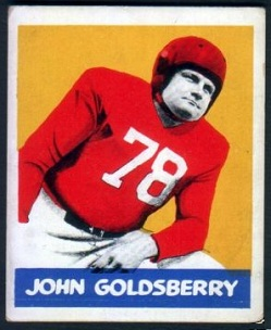 John Goldsberry 1948 Leaf football card