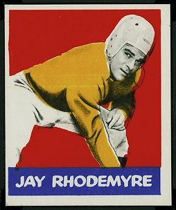 Jay Rhodemyre 1948 Leaf football card