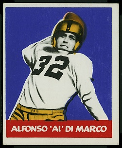 Alfonso DiMarco 1948 Leaf football card