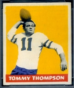 Tommy Thompson 1948 Leaf football card