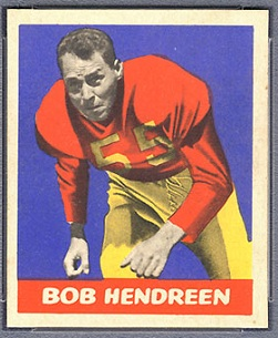 Bob Hendren 1949 Leaf football card
