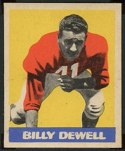 Billy Dewell 1949 Leaf football card