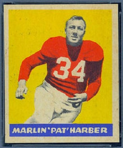 Pat Harder 1949 Leaf football card