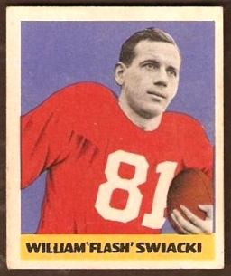Bill Swiacki 1949 Leaf football card