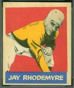 Jay Rhodemyre 1949 Leaf football card