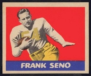 Frank Seno 1949 Leaf football card